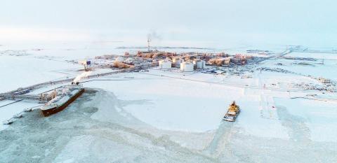 Порт Сабетта и завод СПГ, февраль 2018 г.